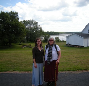 Christina Farnsworth, MCC Maritimes Regional Representative, and Ishbel Munro, Program Director at the Tatamagouche Centre, are snapped here just after the Closing Ceremony for the 2013 Peace and Friendship Gathering. The Gathering brings together Aboriginal and non-Aboriginal people to connect, experience Indigenous-led Ceremonies, learn about current issues and explore how we can live out the Peace and Friendship Treaties together. MCC has supported this work since 2001.