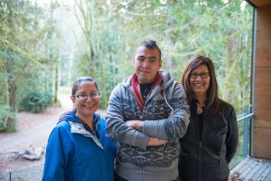Resource people (L to R): Sylvia McAdam, Caleb Behn, and Brenda Sayers. Credit KAIROS Canada.