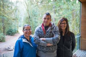 Resource people (L to R): Sylvia McAdam, Caleb Behn, and Brenda Sayers. Credit KAIROS Canada.
