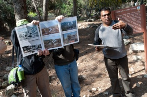 Umar Ighbarieh of MCC partner Zochrot leads a tour of Canada Park, an Israeli national park created over the remains of several Palestinian villages demolished after the Six Day War in 1967.