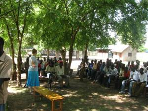 Reconciliation workshop under the trees