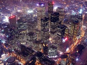 """City of lights"" by paul (dex) from Toronto - Uploaded by Skeezix1000. Licensed under Creative Commons Attribution 2.0 via Wikimedia Commons - http://commons.wikimedia.org/wiki/File:City_of_lights.jpg#mediaviewer/File:City_of_lights.jpg."