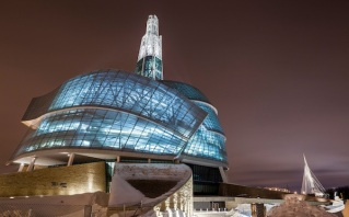 The Canadian Museum for Human Rights. Photo credit mytoba.ca.
