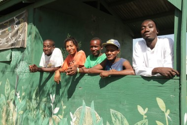Comedus members (left to right).Jean Marc Edouard, Jean Baptiste Ronald, Francois Josue, Luckman Charles, Esaie Simon. MCC produced a six episode Haitian comedy TV series, called Sonjé aimed at educating the public about safer building techniques. The series was designed to entertain and inform Haitians as a public awareness campaign on earthquake resistant building techniques.