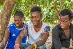 Student seminar participants heard stories from Nigeria, Palestine and Colombia.  These three young men are participants in a program in Nigeria which extends love and support to marginalized youth.