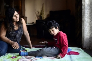 Ellaha Saroosh with her 5-year-old son Arwin Bahman. Photo courtesy The Record.