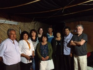 A meeting with Diaguita community leaders in the Huasco Valley, Chile to talk about the impact of the Pascua-Lama mine. Photo by Adrienne Wiebe.