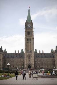 The Peace Tower at Parliament Hill in Ottawa, Ontario, Canada.