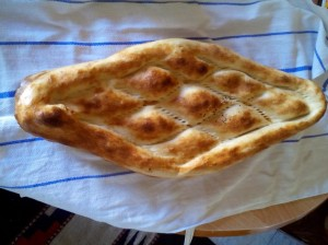 Naan bread for breakfast. MCC photo