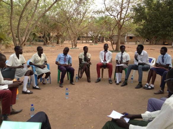 Peace Club members facilitate Listening Circle for other secondary school students