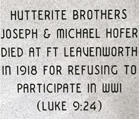 Plaque for Hutterite COs (002)