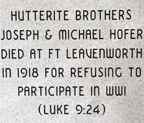 Plaque for Hutterite COs (002)