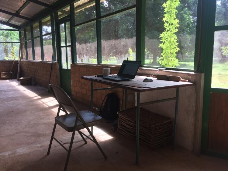 Jason's desk in Chad