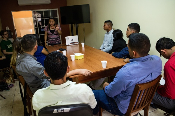 bringing Honduran young people together to meet with MCC advocacy partners in Honduras