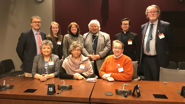 Rick Cober Bauman with Senate delegation